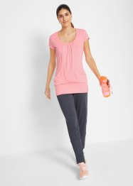 T-shirt de sport long extensible, manches courtes, bpc bonprix collection