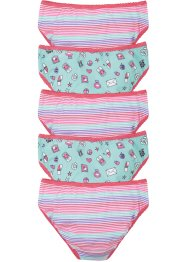 Lot de 5 slips fille, bpc bonprix collection