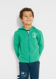 Gilet sweat-shirt garçon coton bio, bpc bonprix collection