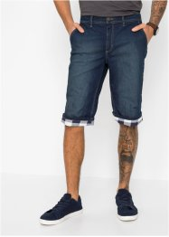 Bermuda long en jean extensible Regular Fit, John Baner JEANSWEAR