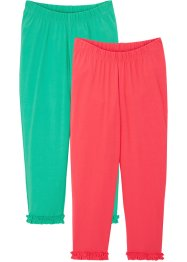 Lot de 2 leggings 3/4 fille en coton bio, bpc bonprix collection
