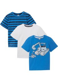 Lot de 3 T-shirts garçon coton bio, bpc bonprix collection