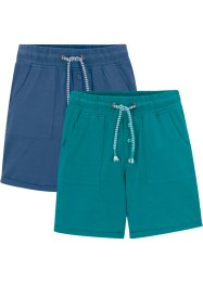 Lot de 2 bermudas garçon coton bio, bpc bonprix collection