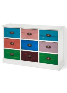 Commode Sandra, bpc living, blanc/multicolore