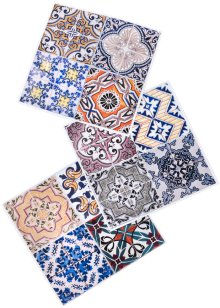 Sticker carrelage Maroc (Ens. 12 pces.), bpc living, multicolore