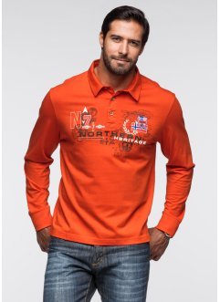 Polo manches longues, bpc bonprix collection, orange