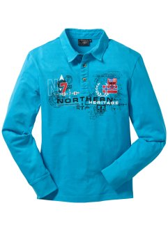 Polo manches longues, bpc bonprix collection, turquoise