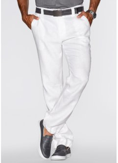 Pantalon en lin Regular Fit, bpc bonprix collection, blanc