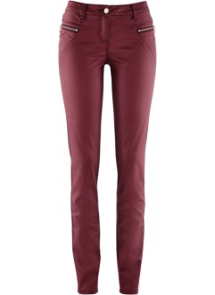 Pantalon extensible enduit, bpc bonprix collection, rouge érable