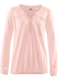 Blouse T-shirt manches longues, bpc bonprix collection, rose dragée