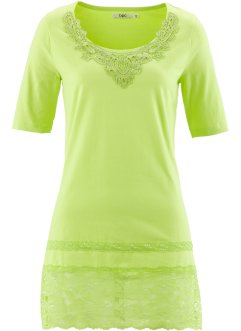 T-shirt long manches mi-longues, bpc bonprix collection, vert kiwi