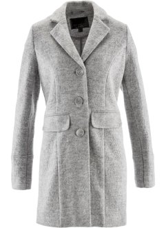 Manteau court en laine, bpc selection premium, gris clair chiné