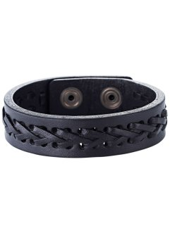 Bracelet en cuir Stockholm, bpc bonprix collection, noir