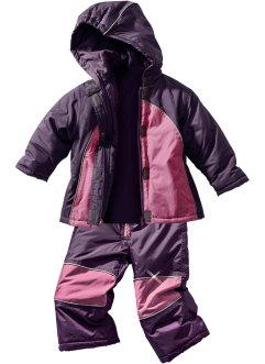 Combinaison de ski (Ens. 2 pces.), bpc bonprix collection, prune/rose mat