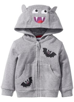 Gilet sweat-shirt bébé en coton bio, bpc bonprix collection, gris clair chiné