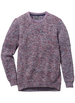 Pull Regular Fit, bpc bonprix collection, bleu/rouge chiné