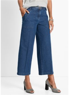 Jupe-culotte jambes amples, bpc selection, bleu stone