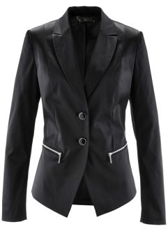 Blazer satin, bpc selection premium, noir