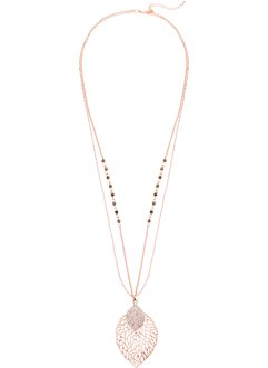 Collier avec feuille et strass, bpc bonprix collection