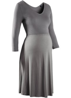 Robe de grossesse en jersey manches 3/4, bpc bonprix collection, gris