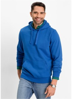 Sweatshirt à capuche regular fit, bpc bonprix collection, bleu azur