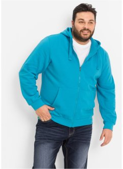 Gilet sweat-shirt à capuche Regular Fit, bpc bonprix collection, turquoise