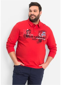 Polo manches longues, bpc bonprix collection, rouge