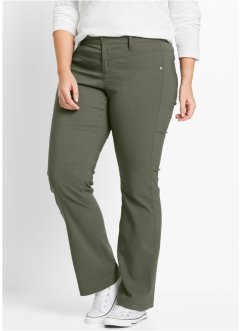 Pantalon extensible amincissant bootcut, bpc bonprix collection, olive foncé