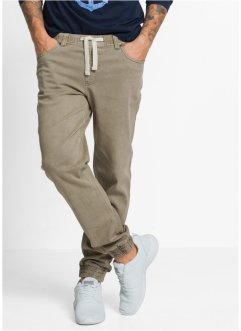 Pantalon confort extensible Slim Fit Straight, RAINBOW, olive clair