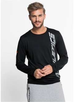 T-shirt fonctionnel à manches longues Slim Fit, RAINBOW, gris chiné