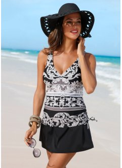 Robe de bain, bpc selection, noir/gris