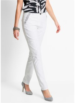 Pantalon stretch à strass, bpc selection, blanc