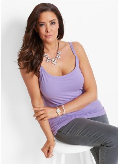 Lot de 2 tops, bpc selection, mauve+blanc