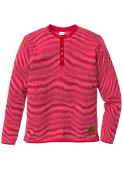 T-shirt manches longues à rayures Regular Fit, John Baner JEANSWEAR, rouge rayé