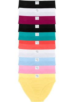 Lot de 10 slips, bpc bonprix collection, multicolore pastel
