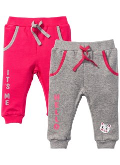 Lot de 2 pantalons sweat bébé en coton bio, bpc bonprix collection