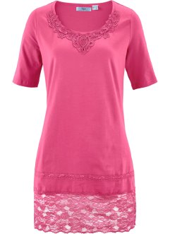 T-shirt long manches mi-longues, bpc bonprix collection, fuchsia moyen