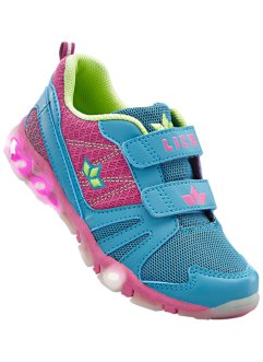 Sneakers clignotantes de Lico, Lico, rose/turquoise