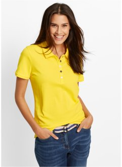 Polo en piqué, bpc bonprix collection, jaune citron