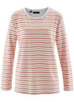 Sweat-shirt, bpc bonprix collection, nectarine rayé