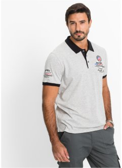 Polo Regular Fit, bpc selection, gris chiné
