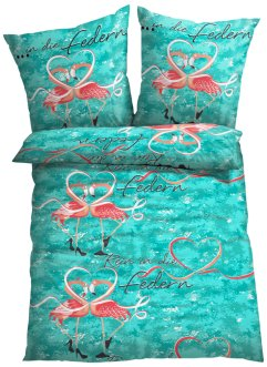 Linge de lit Flamingo, bpc living, multicolore