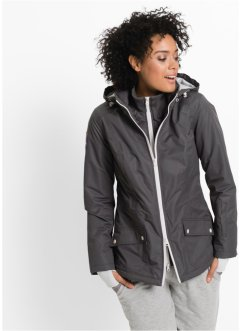 Veste longue fonctionnelle outdoor style 2en1, bpc bonprix collection, gris ardoise