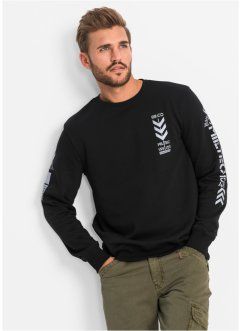 Sweat-shirt Slim Fit, RAINBOW, noir