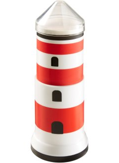 Distributeur de cotons-tiges Phare, bpc living, rouge/blanc/noir