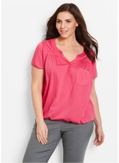 Blouse T-shirt manches courtes, bpc bonprix collection, fuchsia
