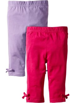 Lot de 2 leggings 3/4, bpc bonprix collection, fuchsia foncé + lilas