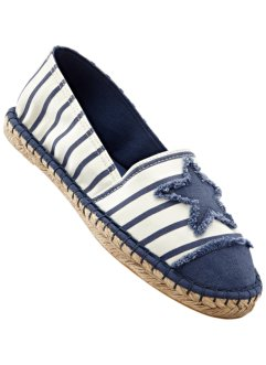 Espadrilles, bpc bonprix collection, beige/bleu jean