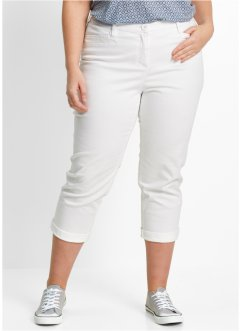 Pantalon extensible amincissant 7/8, bpc bonprix collection, blanc