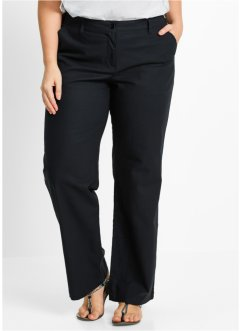 "Pantalon en lin, ""ample"", bpc bonprix collection, noir"